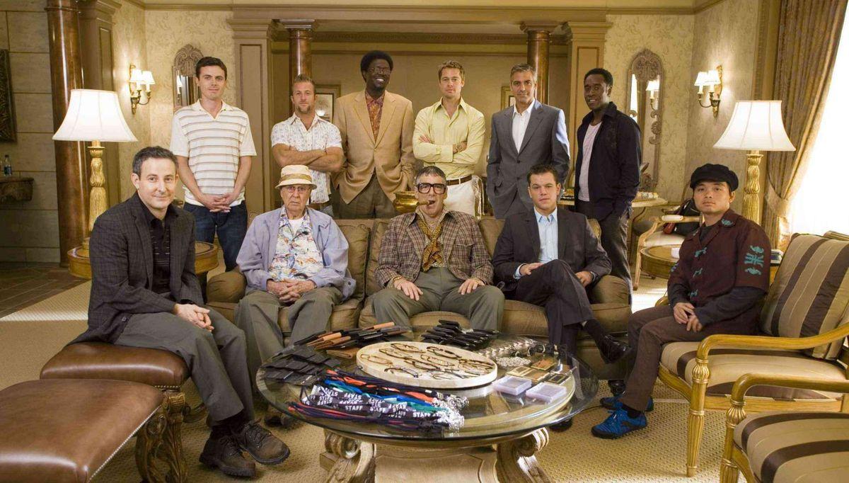 The Ocean's trilogy crew: a suave superhero supergroup.