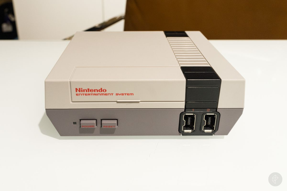 NES Classic - front/top angle view
