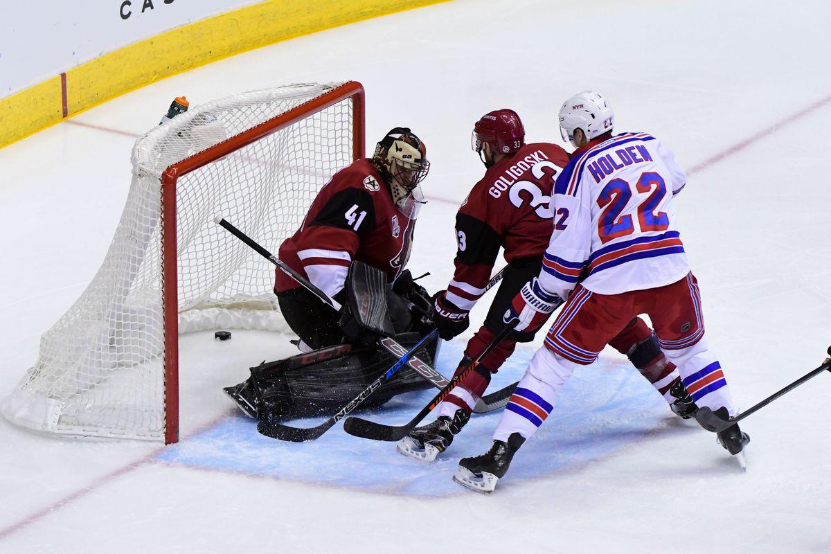NHL: New York Rangers at Arizona Coyotes