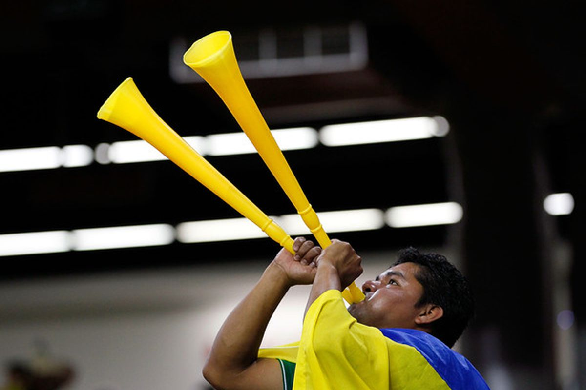 You're not a real supporter of Las Águilas unless you blow two vuvuzelas at the same time.