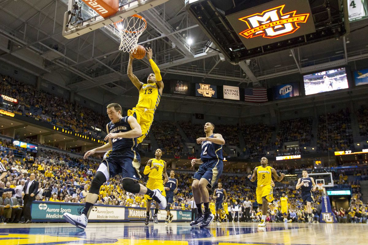 Am I crazy, or should Marquette sell that video board underneath the scoreboard for advertising?