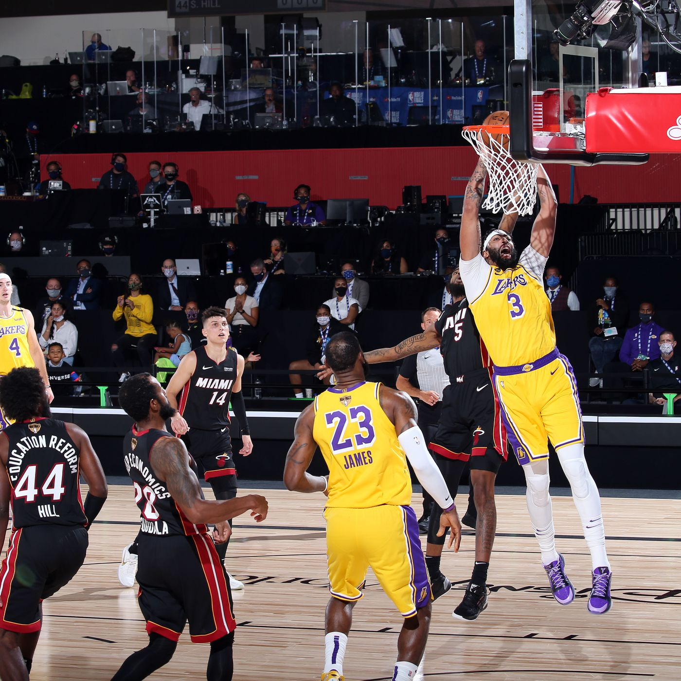 Lakers vs. Heat Final Score: L.A. too hot to handle in Game 1 win - Silver Screen and Roll