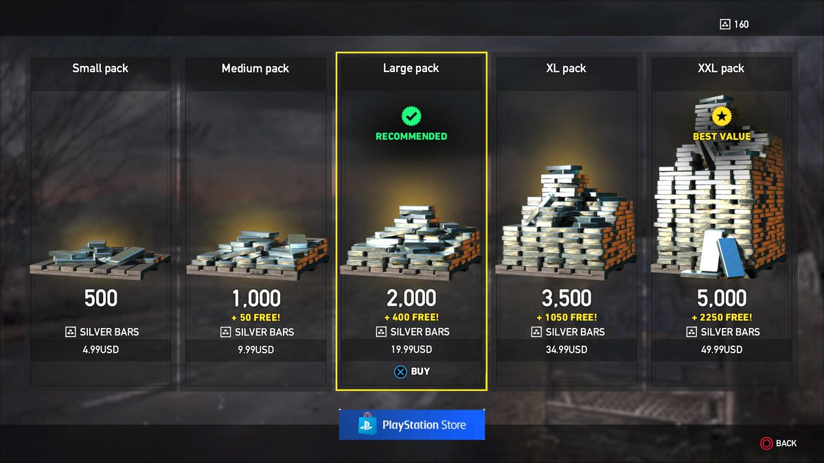 Buying silver bars in Far Cry 5