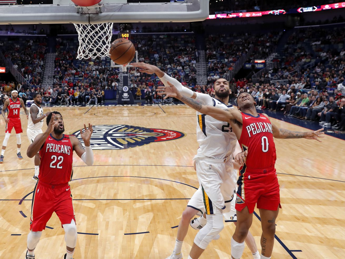 Rudy Gobert used this emoji to describe the Jazz's wild OT loss to the Pelicans