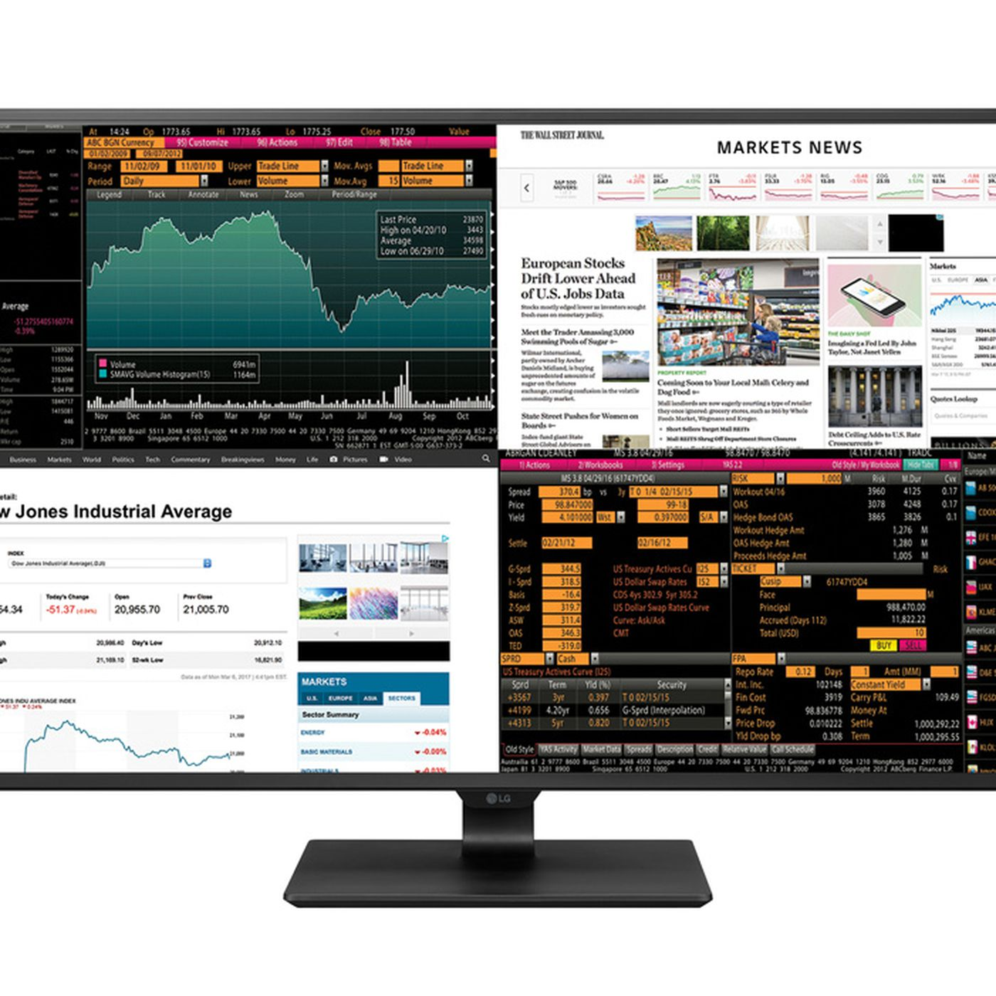LG's new 42 5-inch monitor can display four inputs at once