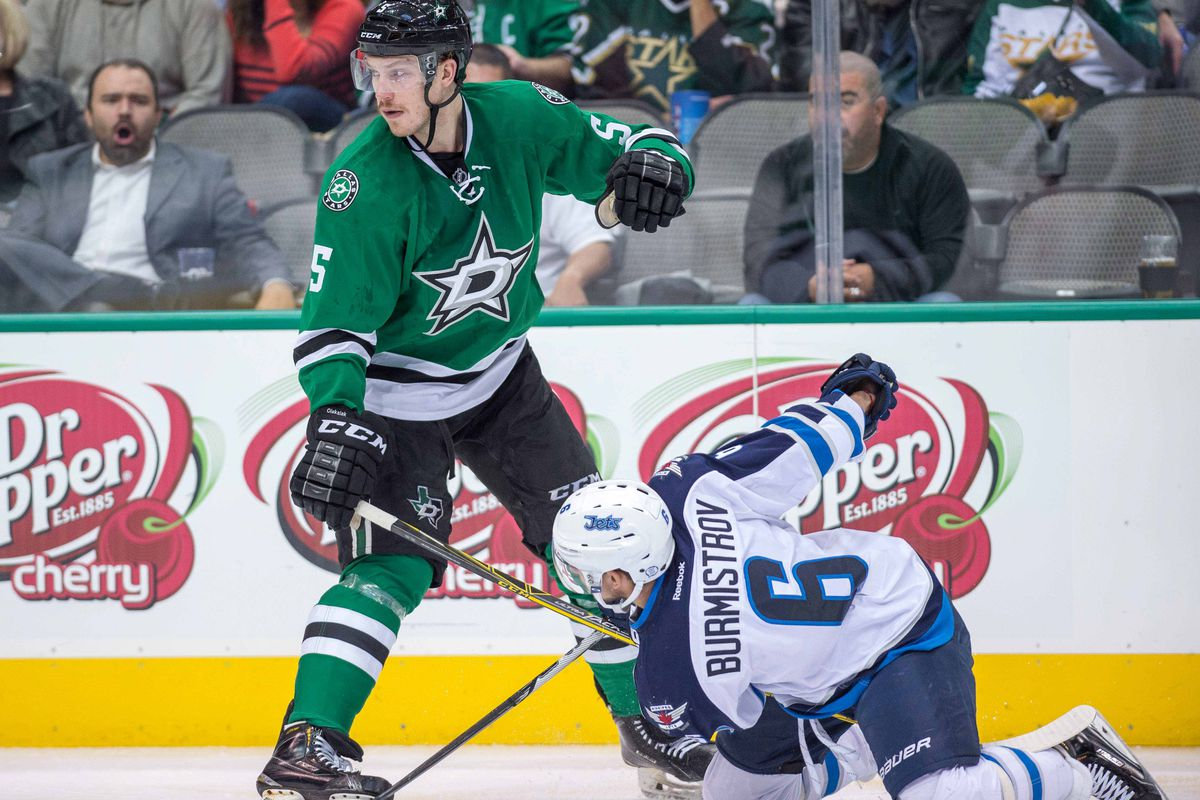 The Stars are working within a timed window, and Jamie Oleksiak is, too.