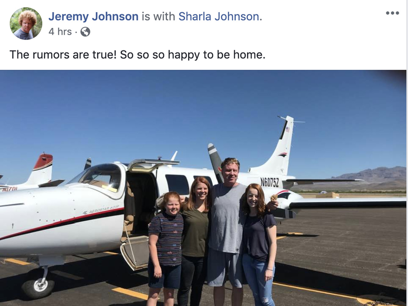 A post on convicted Utah businessman Jeremy Johnson's Facebook page Friday, May 22, 2020, after he was apparently released early from prison.