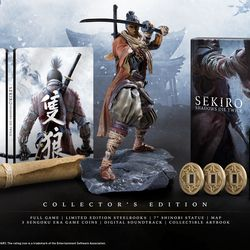 The collector's edition version of Sekiro: Shadows Die Twice.