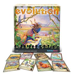 The second edition of Evolution has more dynamic artwork. The new cover art for the box features a colorful palette.