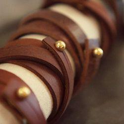 Elise Bergman leather wrap bracelet $55