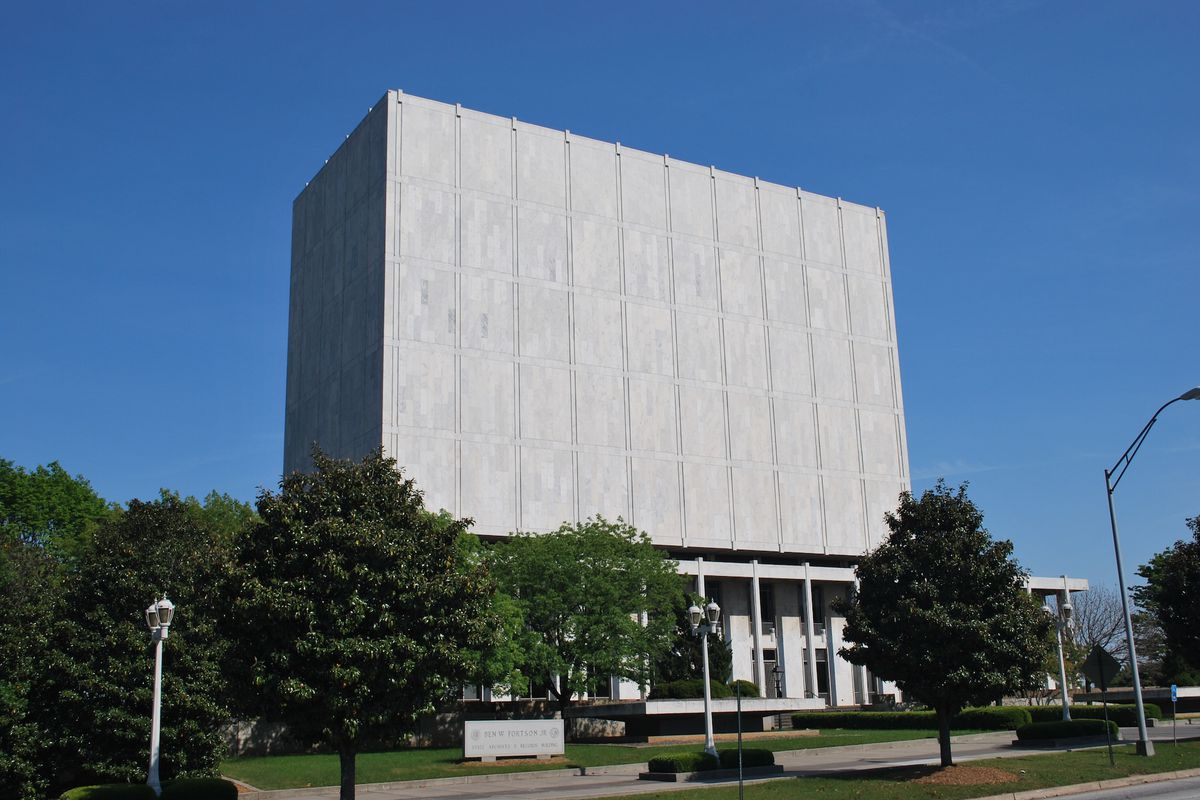 The Archives Building near Turner Field.