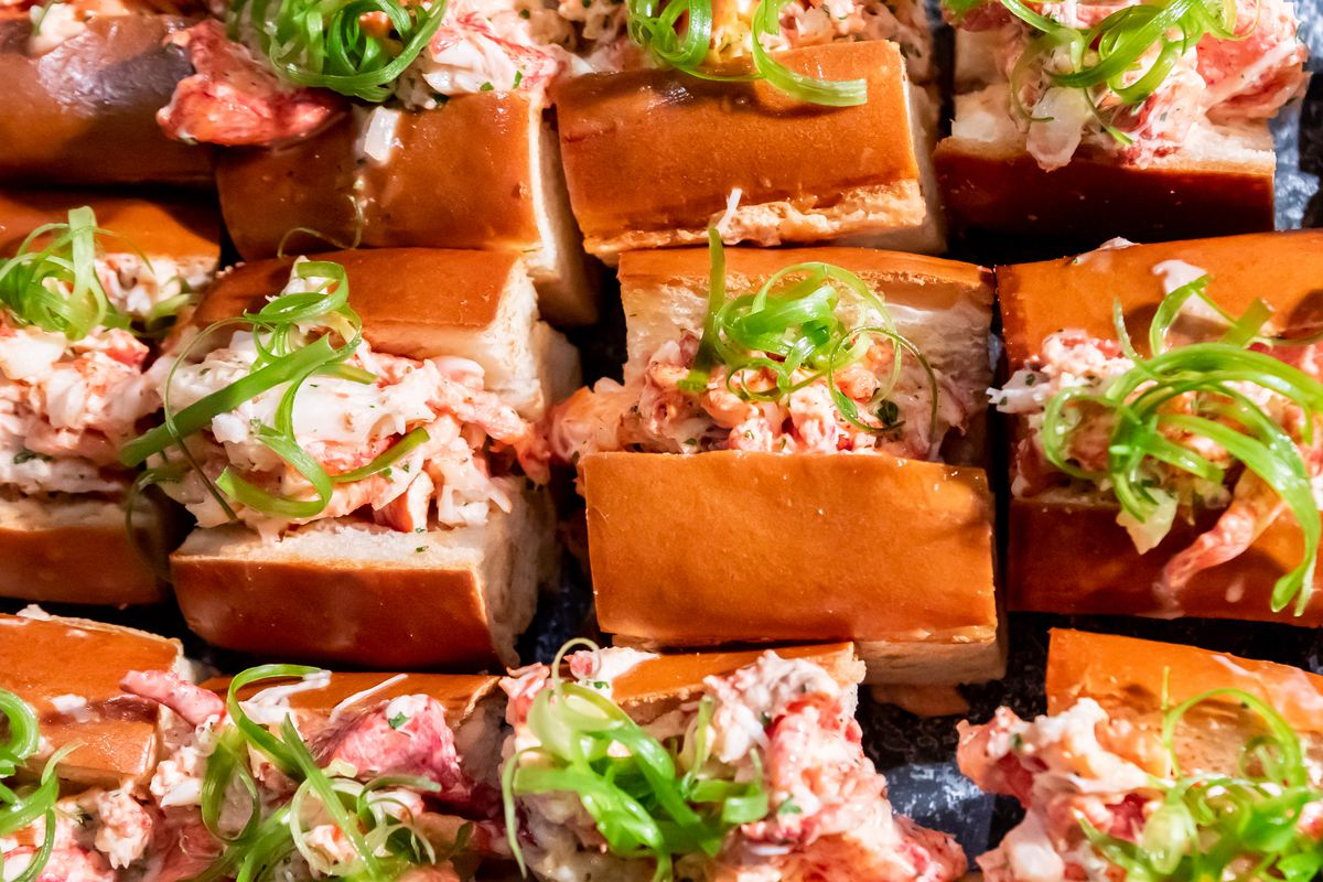 Lobster roll bites from Sam's Chowder House