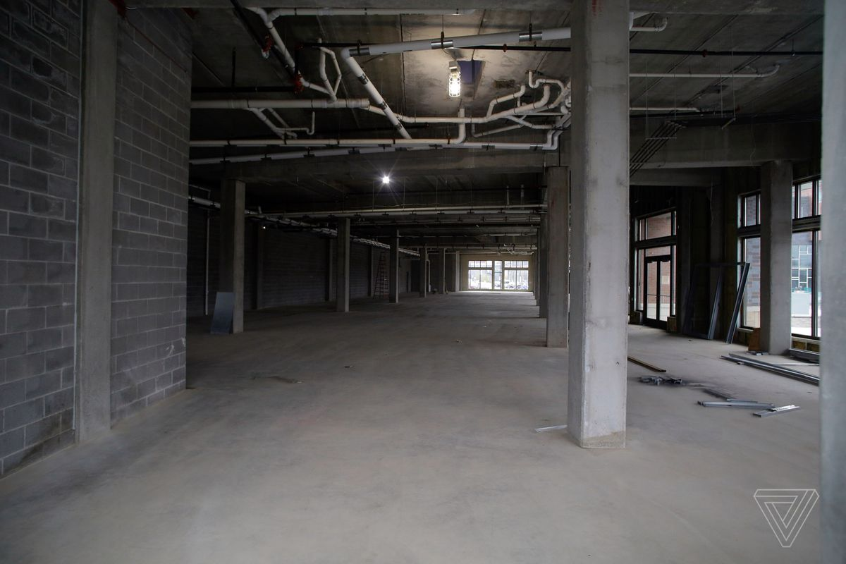 A newly constructed building that will house Foxconn offices sits empty and unfinished on Thursday, May 9 2019 in Eau Claire, Wisconsin. Foxconn is a electronics contract manufacturing company, which is constructing a plant in south eastern Wisconsin creating thousands of jobs.