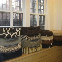 Printed doggie beds