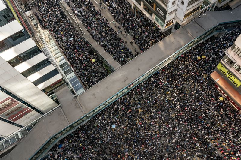 Hong Kong demonstrators see a massive turnout on the six month anniversary of protests, Wustoo