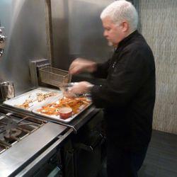 Martin frying up a batch.