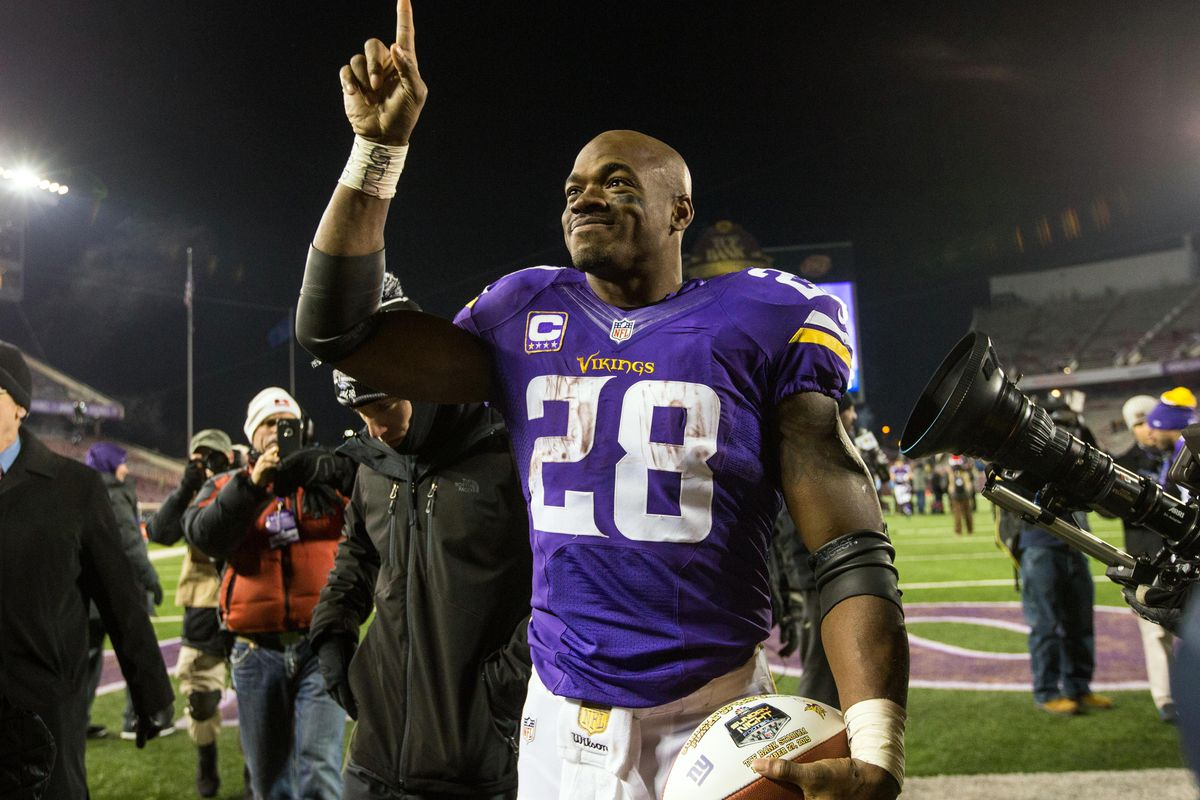 Once again Peterson finished the year with the most fantasy points of any Vikings player.