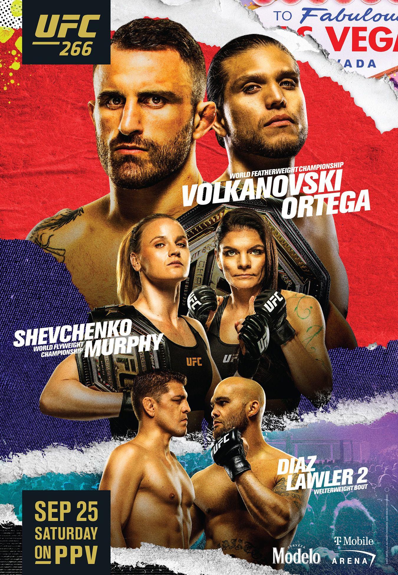 UFC 266 poster drops for 'Volkanovski vs Ortega' featuring return of Nick  Diaz - MMAmania.com