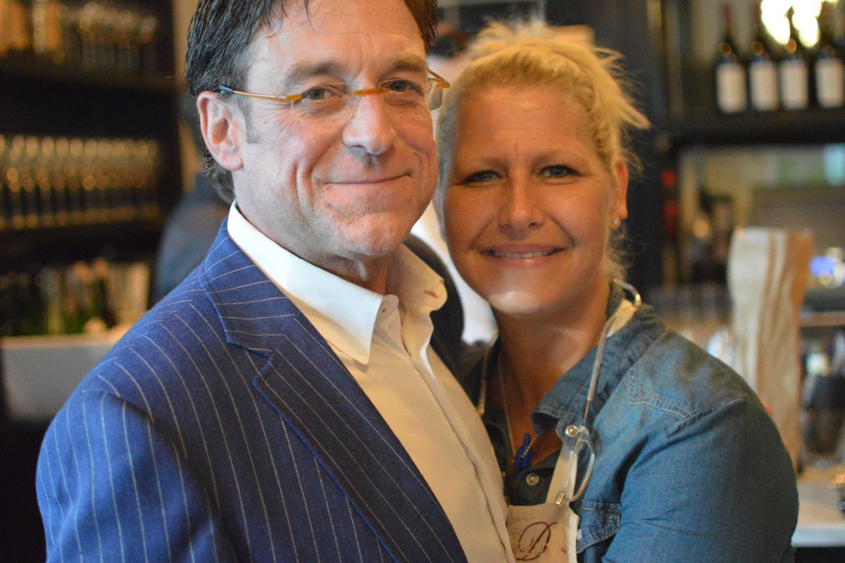 Anne Kearney and husband Tom Sand at Meauxbar 8/25