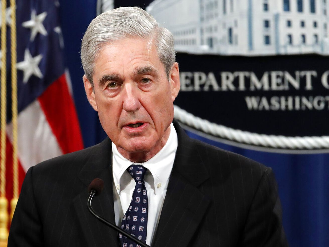 In this May 29, 2019, file photo, special counsel Robert Mueller speaks at the Department of Justice in Washington, about the Russia investigation.