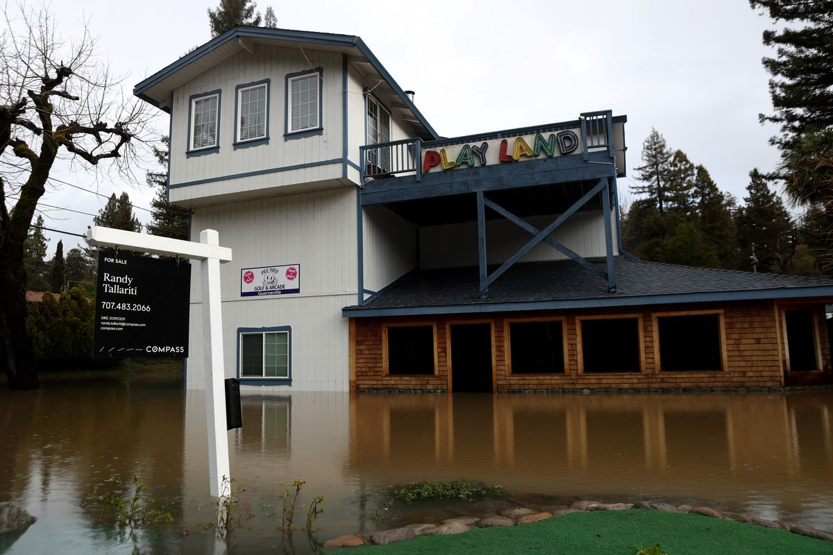 Heavy Rains Bring California's Russian River To Flood Stage