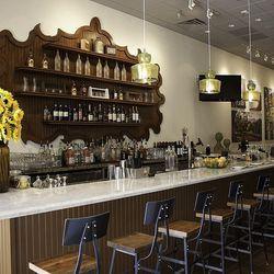 The bar at Honey Salt.