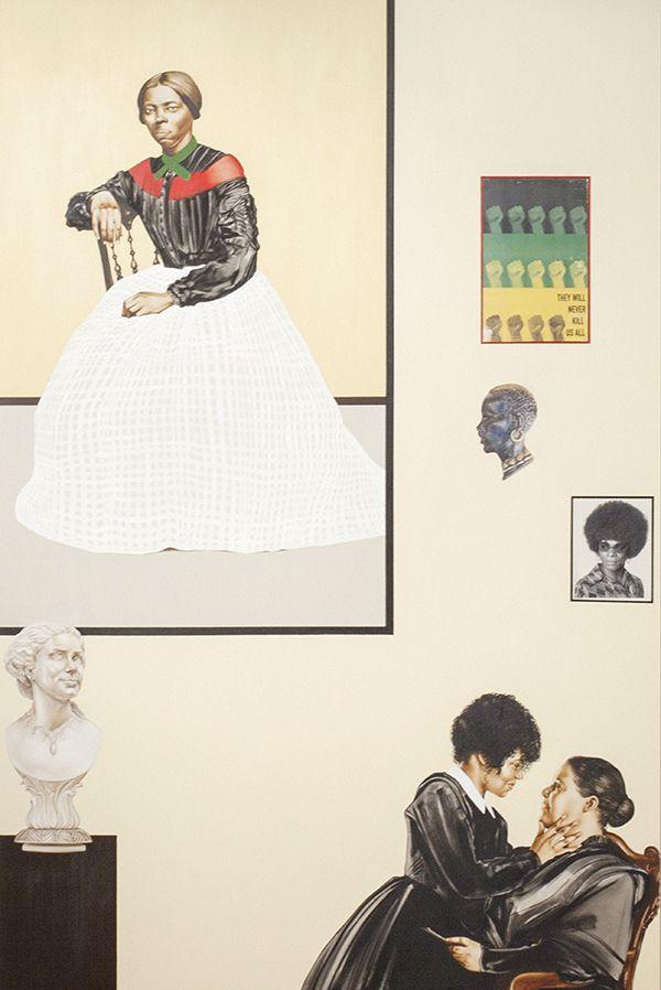 L'œuvre de Meleko Mokgosi comprend une nouvelle installation de 20 panneaux au Smart Museum.