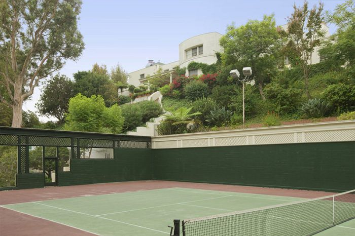 View from the tennis court of the Goldwyn/Swift estate