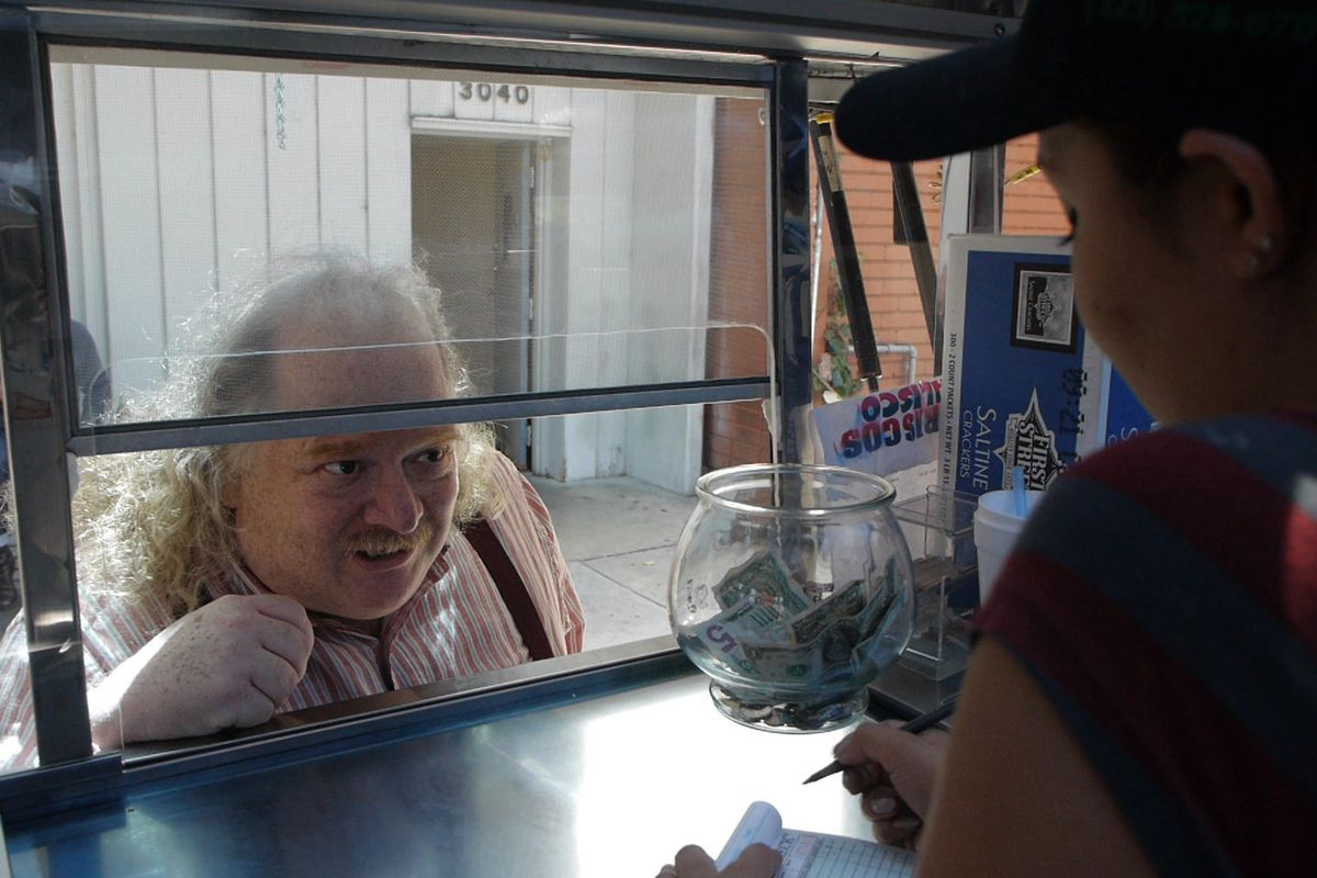"""Jonathan Gold in a still from """"City of Gold."""""""