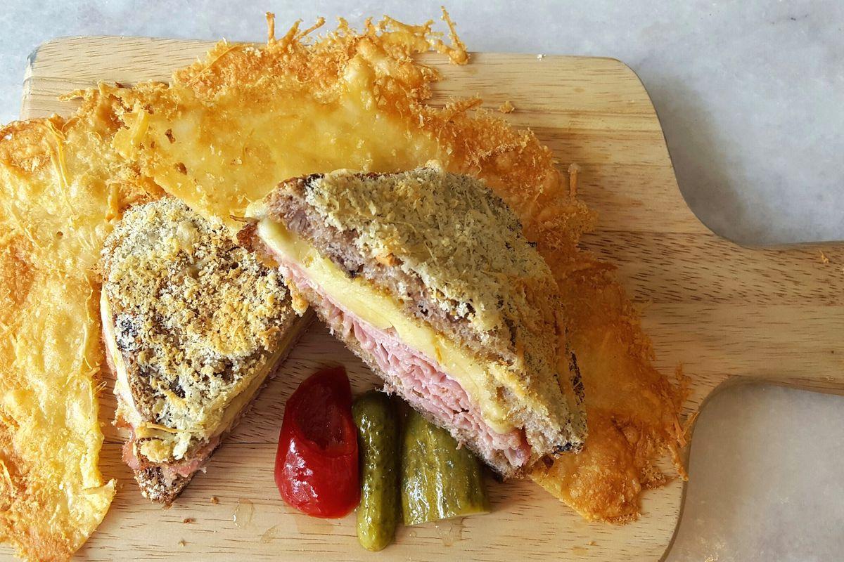 The Mr. Crispy sandwich from Astoria Bier & Cheese