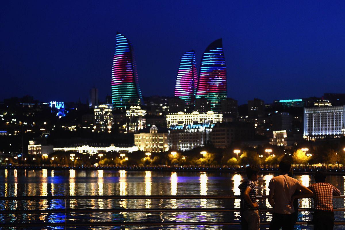 The Flame Towers in Baku, Azerbaijan