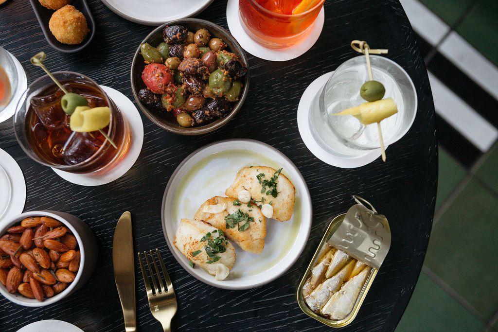 Tapas plates and cocktails at La Bande