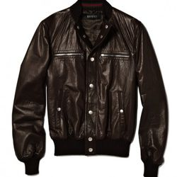 Gucci - Leather Bomber Jacket<br />$2,750 (30% off) = $1,925