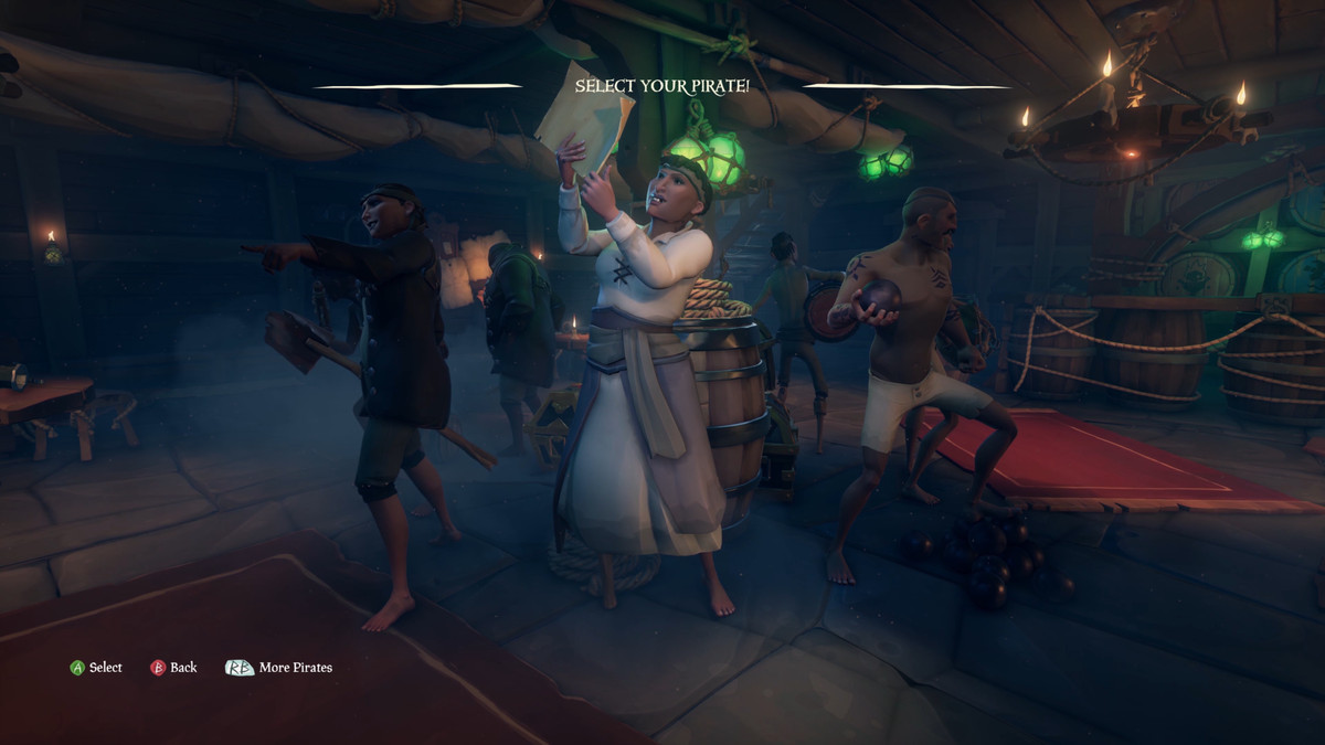 Sea of Thieves - selecting a pirate