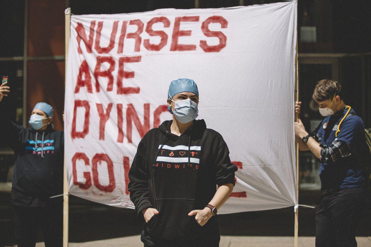 Anti-Quarantine Protest In Chicago