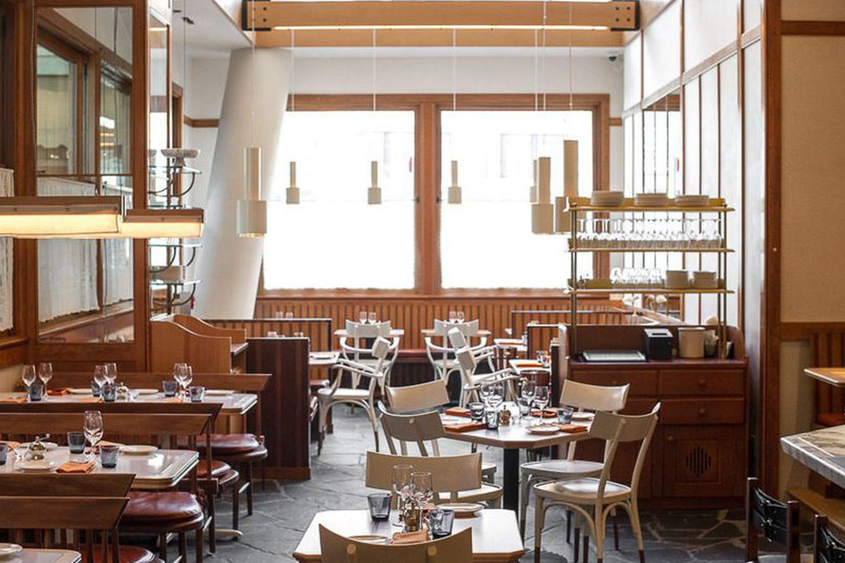[The dining room at Narcissa on The Bowery.  Great place for lunch today.]