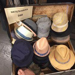Hats, $60