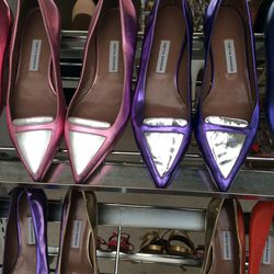 Point-toe flats, size 37, $95