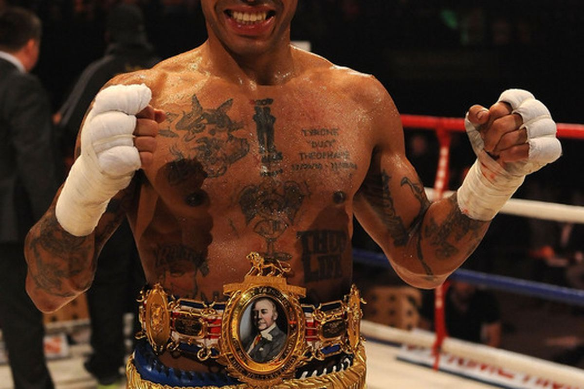 Ashley Theophane is now ranked No. 10 in the junior welterweight division by Bad Left Hook. (Photo by Christopher Lee/Getty Images)