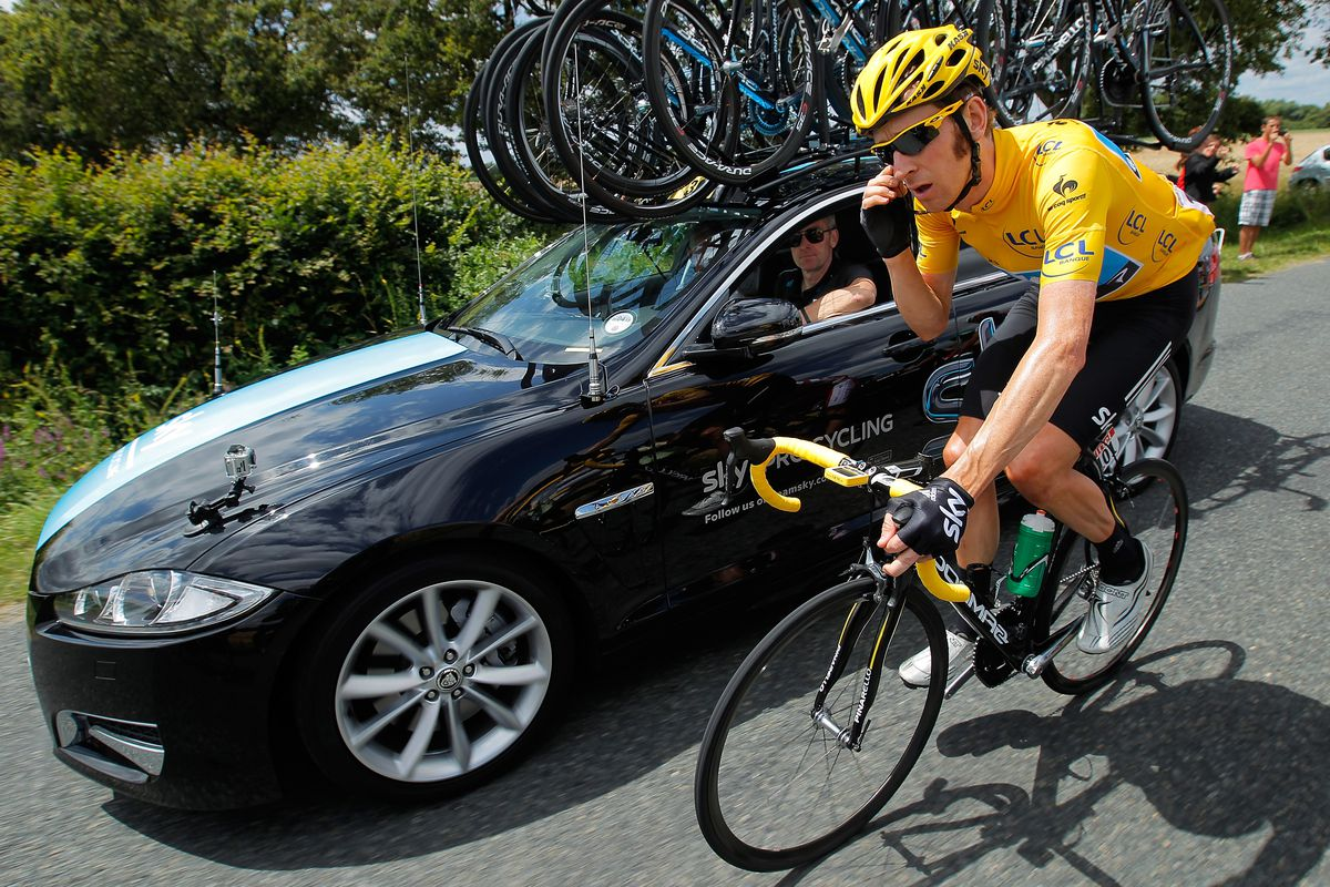 Yates and Wiggins at the Tour de France. Photo:
