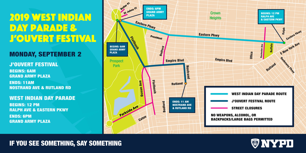 West Indian Day Parade in NYC: route, start time, directions