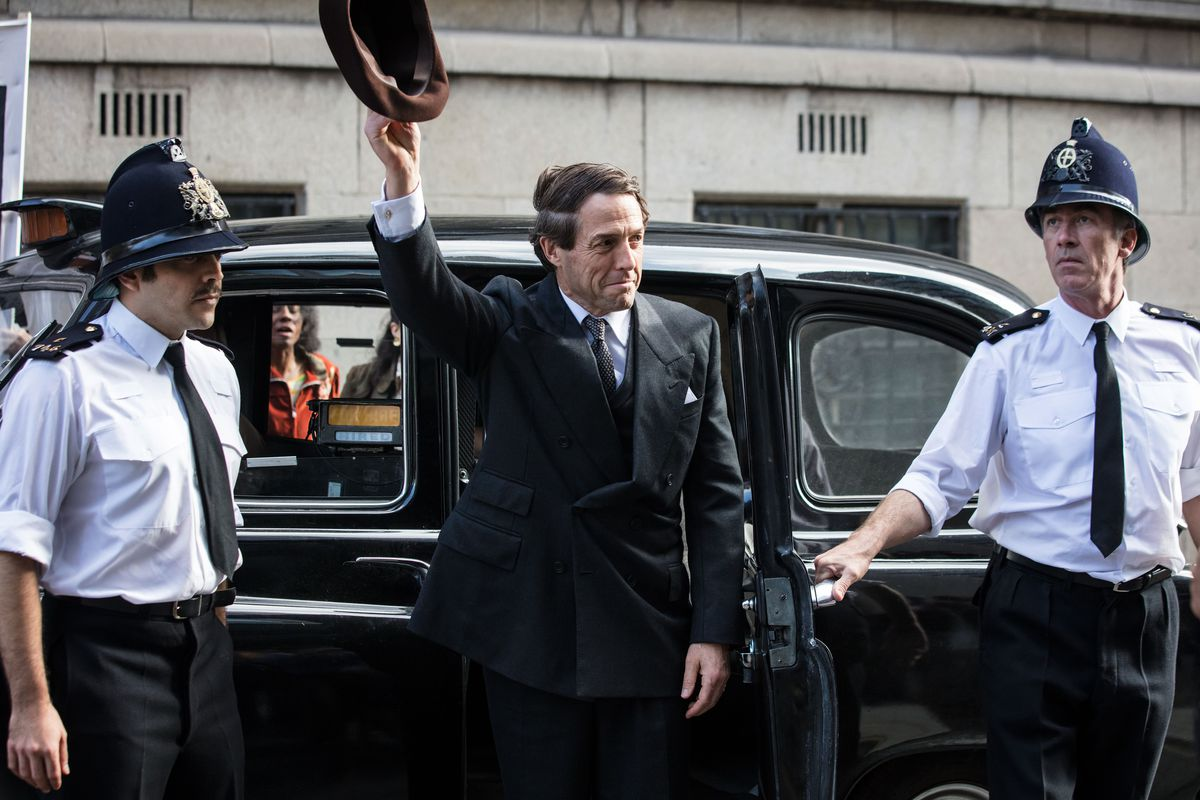 A Very English Scandal - Jeremy Thorpe waving his hat