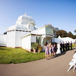 """<a href=""""http://www.conservatoryofflowers.org"""">Conservatory of Flowers</a>, 100 John F Kennedy Dr, San Francisco (415-831-2090): Say your vows among rare foliage in this Golden Gate Park landmark greenhouse. The venue offers space for both the ceremony an"""