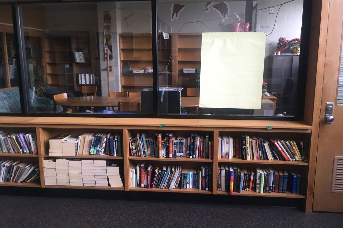 The library at Osborn High School lacks a librarian, like many schools statewide.