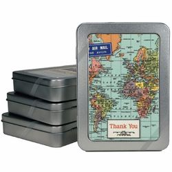 """<a href=""""http://www.jennibick.com/cavallini-thank-you-notes-world-map.html""""> Cavallini and Co. World Map Thank You cards</a>, $12.95 for 10 jennibick.com"""