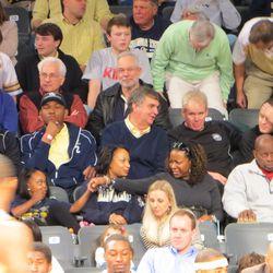 Elder, Lee, Johnson, and McCollum Enjoying the Game
