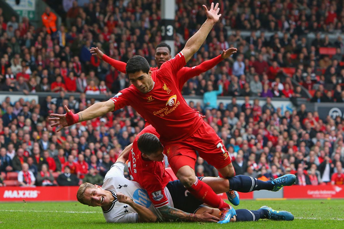 By the time the synchronised celebrations had begun, poor old Michael and his Spurs chums just wanted to go home...