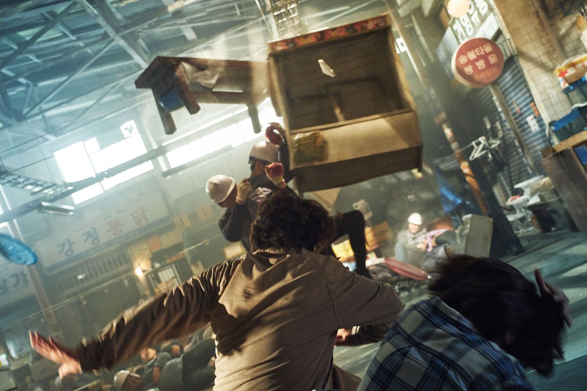 a room is thrown into chaos in Psychokinesis
