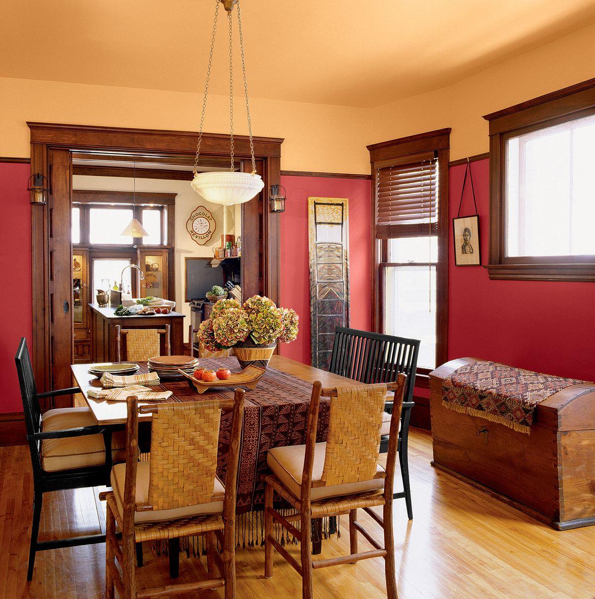 Craftsman House With Warm Tones Interior