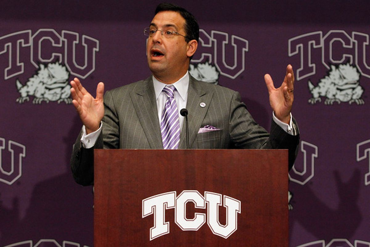 The MWC's sweetheart deal wasn't enough to convince Athletic Director Chris Del Conte and the Frogs to stay in the MWC. (Photo by Tom Pennington/Getty Images)